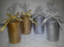 Gold & Silver Pillar Candle
