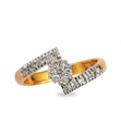 Yellow Gold Crossover Floral Diamond Ring