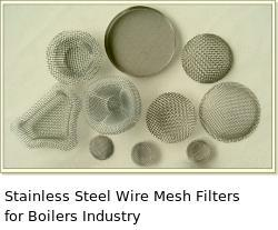 Stainless Steel Wire Mesh Filters for Boilers Industry