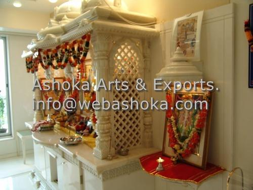 Marble Mandir   Carved White Marble Pooja Ghar Manufacturer From Udaipur