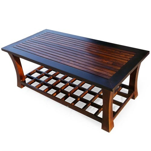 Cayenne Contemporary Two Tone Coffee Table