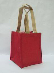Red  Small Jute Bags