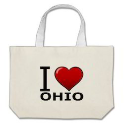I Love Ohio Canvas Bags