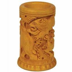 Wooden Carved Pen Stands