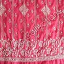 Chikan Embroidery On Georgette With Blouse - Sequins &amp; Pearl