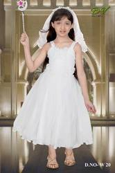 Girls White Christmas Dress