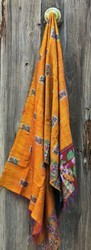 Indian Vintage Hand Quilted  Silk Stole