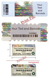 Holographic Barcode Label
