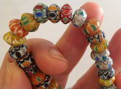 chevron glass beads for bead stores