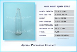 750 Ml Squash  Bottle