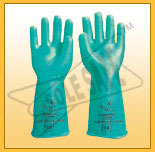 nitrile hand gloves supported unsupported