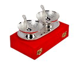 Silver Spoon and Serving Bowls