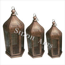 antique finish lamps and tea lights