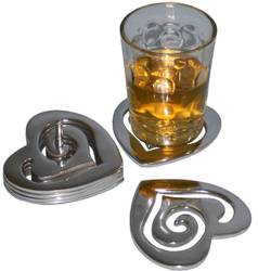 Aluminum Polished Table Coaster