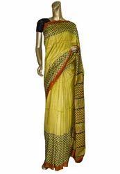 Yellow Color Handloom Silk Sarees
