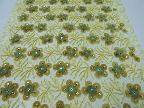 Hand made embroidery applique embroidery on net retailer from kolkata