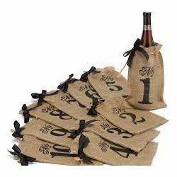 Different Digit Number Printed Wine Bag