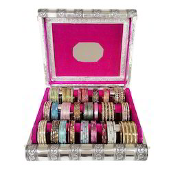 Triple Elephant designed Premium Wooden 3-Roll Bangle Box