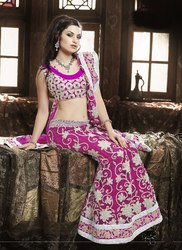 Beautiful Pink Lehenga Designer Work