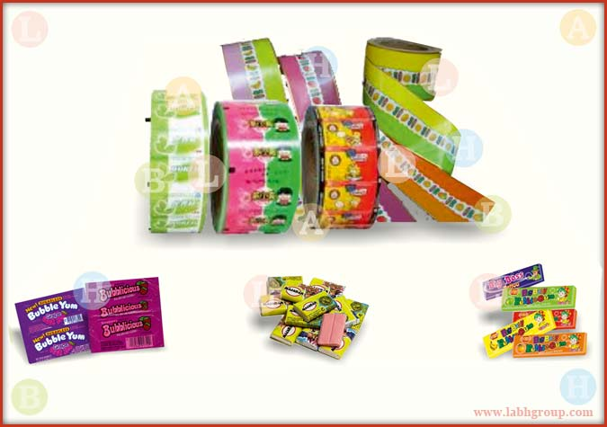Printed Paper with Wax Coating for Bubble Gum Packing