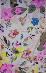 Flower Printed Cotton Scarf