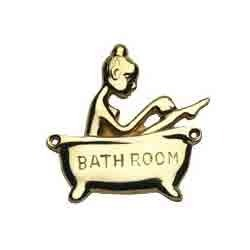 Lady in Bath Signage