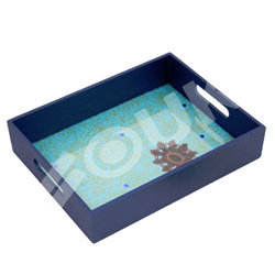 Blue Sequined Tray