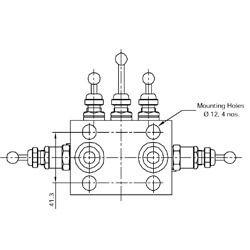 5 Valve T type Manifold