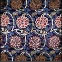 Blue Satin Brocade Fabric