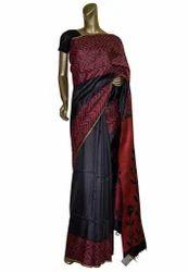 Black Color Handloom Silk Saree