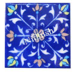 blue pottery handmade tile