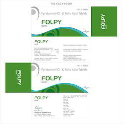 Pyridoxine HCI and Folic Acid Folpy Tablets