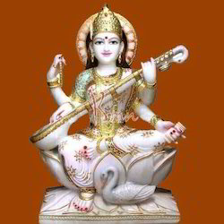 Lord Marble Saraswati Statue