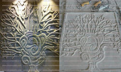 Sand Stone Wall Mural Leaf Pattern Wall Mural Manufacturer from