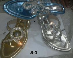 coloured sandals
