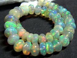 Rainbow Fire Opal Beads