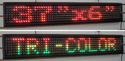 Tri Colour LED Scrolling Display