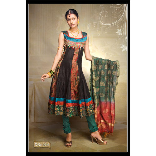 Silk Anarkali Suits - Silk Anarkali Suit Manufacturer from Mumbai.