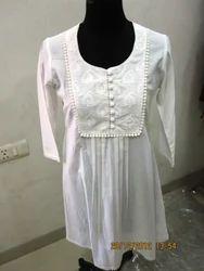 White Cotton Kurtis