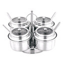Steel Revolving Condiment Pot