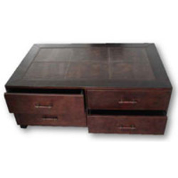 Leather center table leather center tables manufacturer - Small center table designs ...
