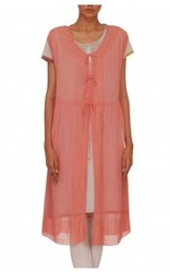 Coral Sheer Jacket Kurta
