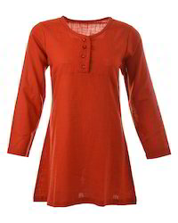 Orange Cotton Tunic