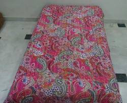 New Cotton Kantha Paisley Single Bed Cover