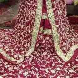Maroon Gharara with Heavy Embroidery