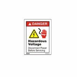 Hazardous Voltage Warning Sign