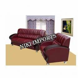 Stylish Wood Panel Sofa Set - Rexine