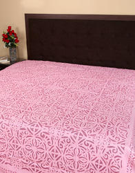 vintage applique work bed sheet