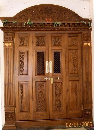 Main door designs india for Indian main double door designs