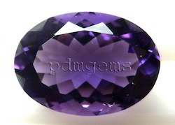Amethyst Faceted Oval Gemstone